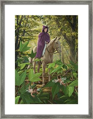 Lost Princess On Horseback Framed Print by Martin Davey