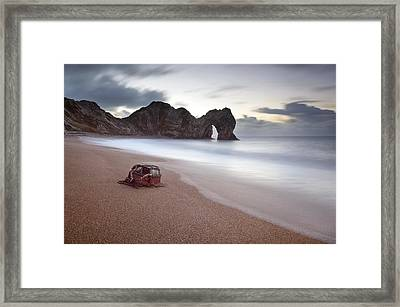 Lost Property At Durdle Door Framed Print by Chris Frost