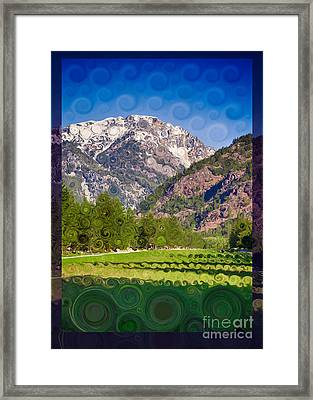 Lost River Airport Runway Abstract Landscape Painting Framed Print