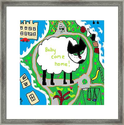 Lost Sheep Framed Print by Anita Dale Livaditis