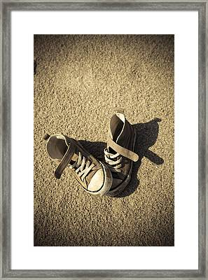 Lost Shoes Framed Print by Maria Heyens