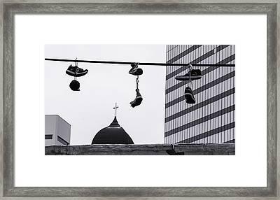 Lost Soles - Urban Metaphors Framed Print