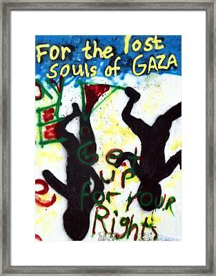 Lost Souls Of Gaza Framed Print