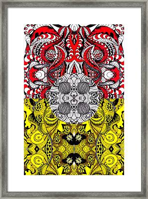 Lost World Of Thoughts Framed Print by Kenal Louis