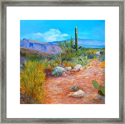 Lot For Sale 2 Framed Print by M Diane Bonaparte
