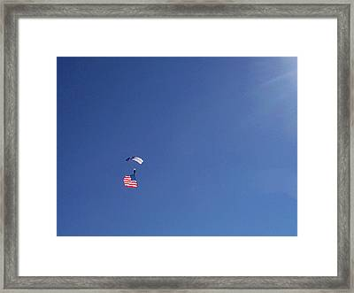 Lot Of Blue With Some Red And White Framed Print by Carl Deaville