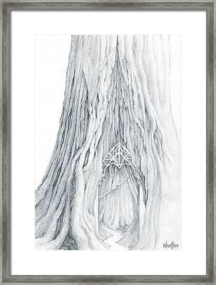 Lothlorien Mallorn Tree Framed Print by Curtiss Shaffer