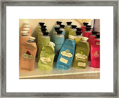 Lotions And Potions Framed Print by Gillian Singleton