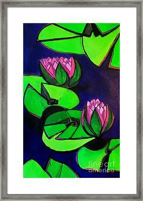 Lotus 2 Botanical Flowers Framed Print