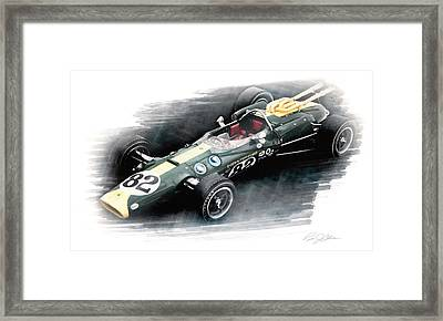 Lotus 38 Framed Print by Peter Chilelli