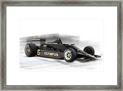Lotus 79 Framed Print by Peter Chilelli