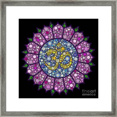Lotus Aum Framed Print