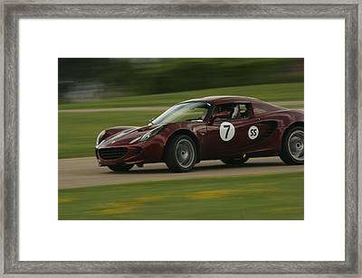 Lotus Autocross Framed Print by Jaymes Grossman