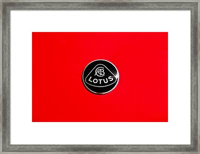 Framed Print featuring the photograph Lotus Badge by Aaron Berg