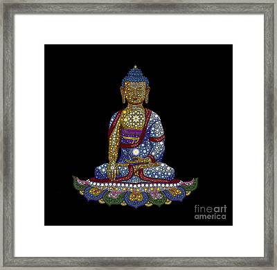 Lotus Buddha Framed Print by Tim Gainey