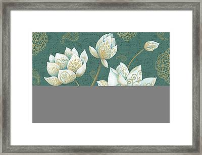 Lotus Dream Ib Framed Print by Daphne Brissonnet