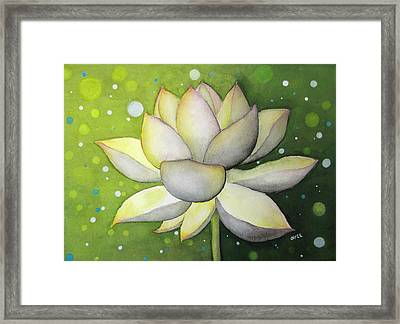 Lotus Dream Framed Print by Oiyee At Oystudio