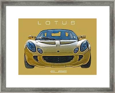 Lotus Elise Head On Framed Print by Samuel Sheats