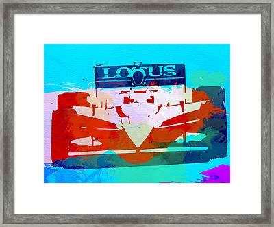 Lotus F1 Racing Framed Print by Naxart Studio
