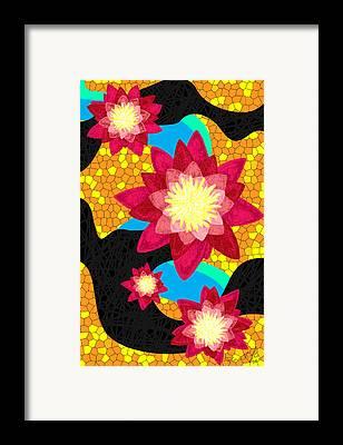 Lotus Flower Bombs Framed Prints