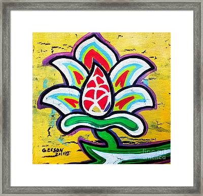 Lotus Flower Framed Print by Genevieve Esson