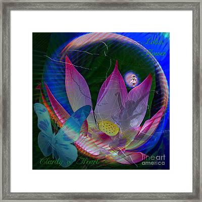 Lotus Flower Energy Framed Print