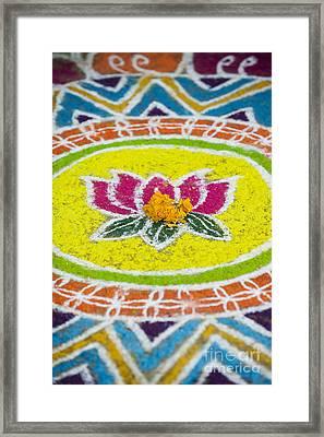 Lotus Flower Rangoli Framed Print