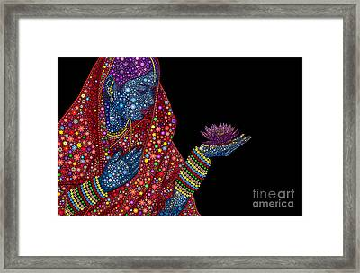 Lotus Girl Framed Print by Tim Gainey