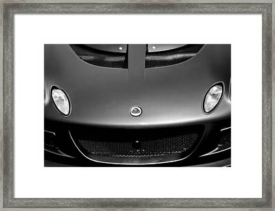 Lotus Hood Emblem -0020bw Framed Print
