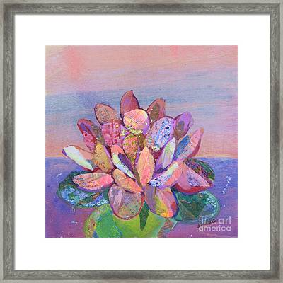 Lotus II Framed Print by Shadia Derbyshire