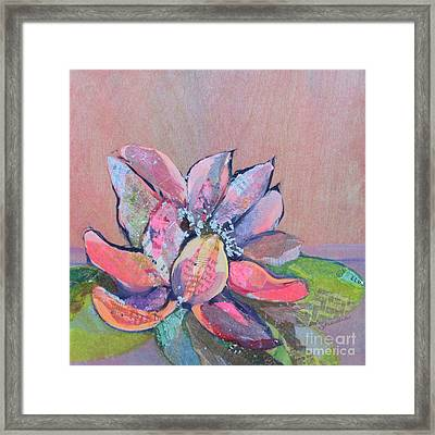 Lotus Iv Framed Print by Shadia Derbyshire