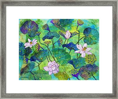 Lotus  Framed Print by Janet Immordino
