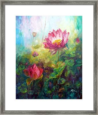 Lotus Light Framed Print by Marie Green