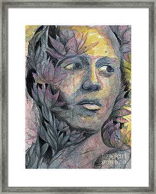 Lotus Man Framed Print by Michael Volpicelli