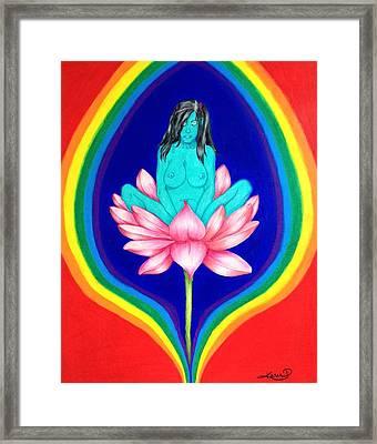 Lotus Meditation Framed Print