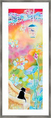 Lotus Pond Framed Print