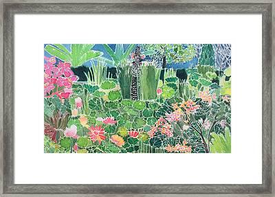 Lotus Pond Ubud Bali Framed Print by Hilary Simon