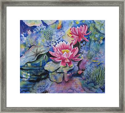 Lotus Pond Framed Print by Vidyut Singhal