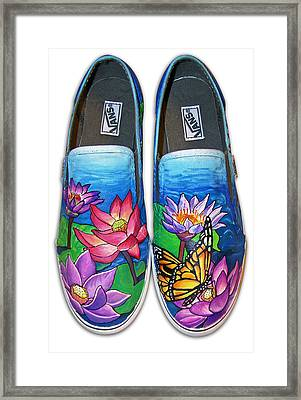 Lotus Shoes Framed Print