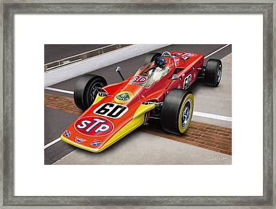 Lotus Stp Indy Turbine Framed Print by David Kyte