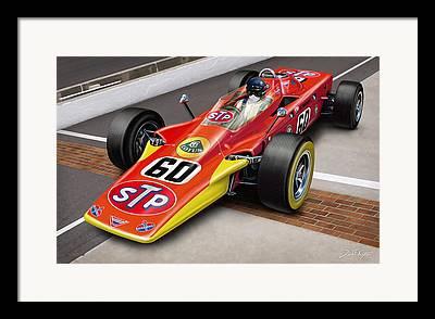 Indycar Framed Prints