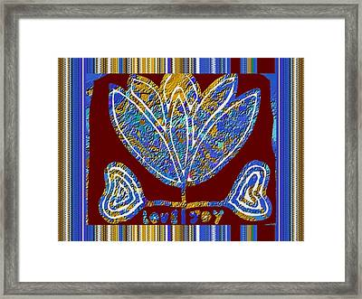 Lotus Symbol Holy Flower Textures Patterns Background Designs  And Color Tones N Color Shades Availa Framed Print by Navin Joshi