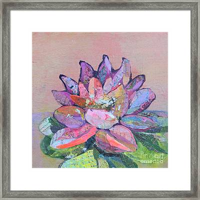 Lotus V Framed Print by Shadia Derbyshire