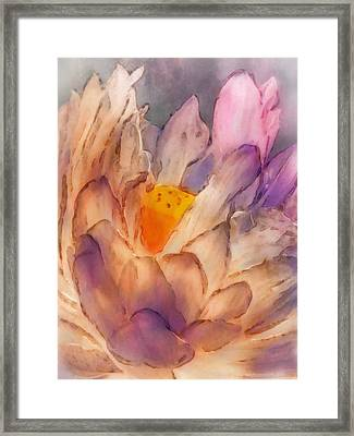 Lotus Watercolor Framed Print by Jill Balsam