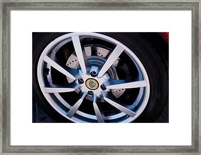 Lotus Wheel Framed Print by Luis-Enrique Valles