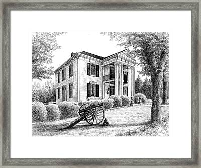 Framed Print featuring the drawing Lotz House by Janet King