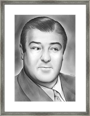 Lou Costello Framed Print by Greg Joens