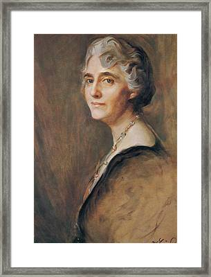 Lou Hoover, First Lady Framed Print