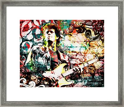 Lou Reed - Velvet Underground Original Painting Print Framed Print by Ryan Rock Artist