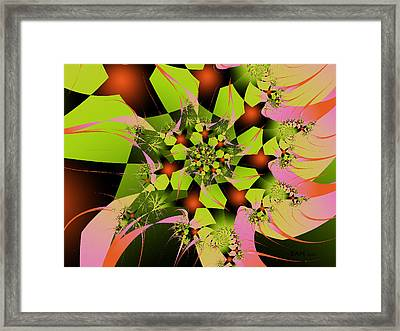 Framed Print featuring the digital art Loud Bouquet by Elizabeth McTaggart
